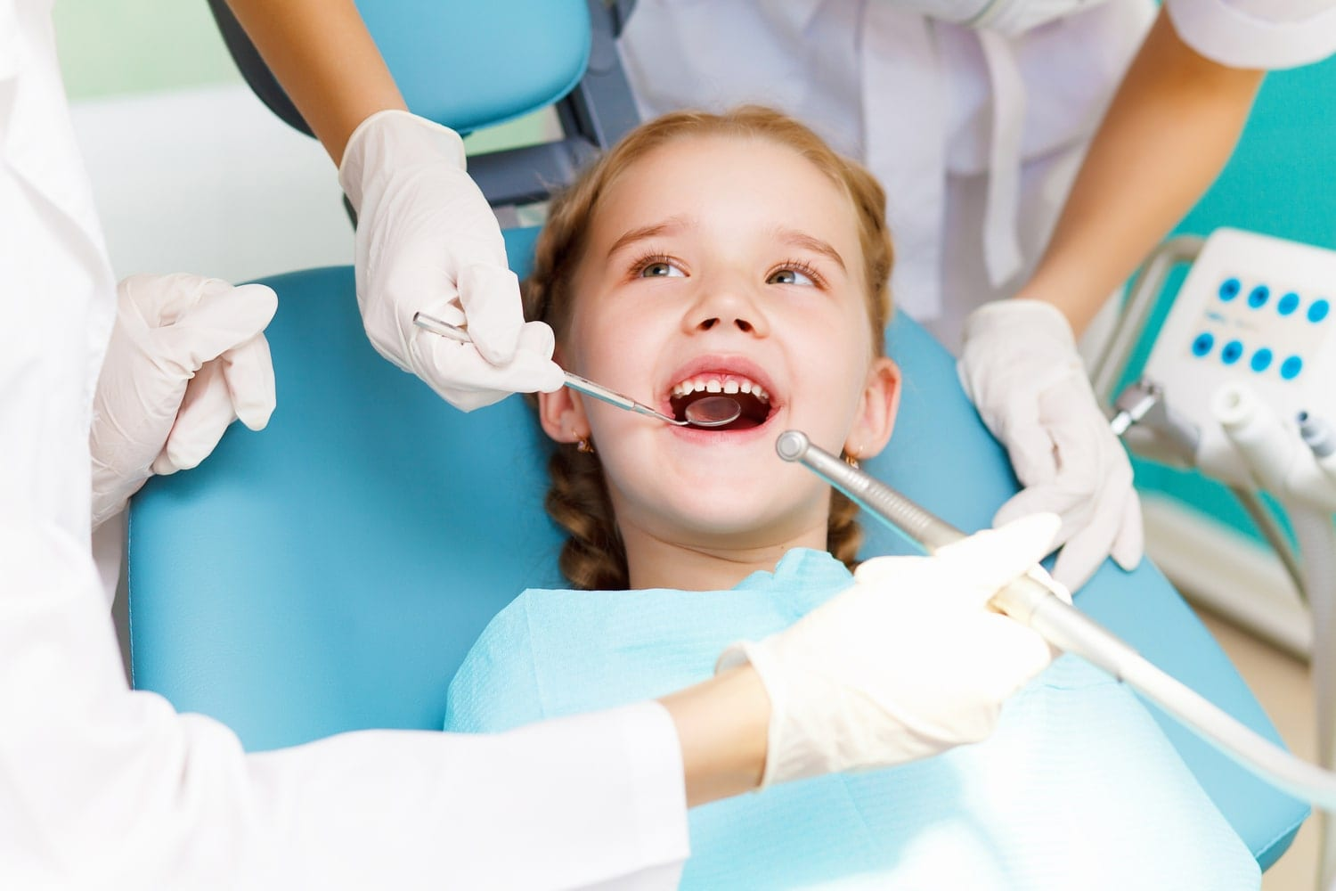 Young child at the dentist