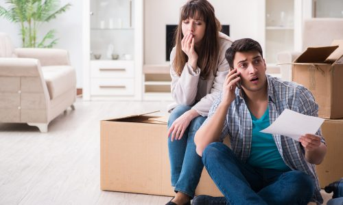 Young couple receive letter from mortgage lender asking them to repay their home loans.