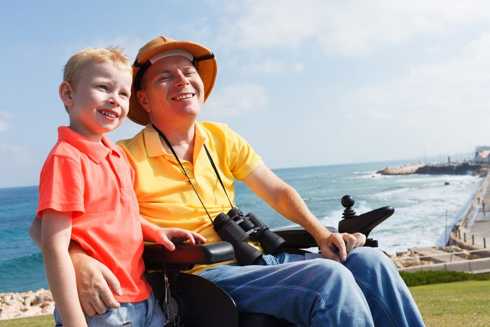 Disabled father and son | life insurance comparison
